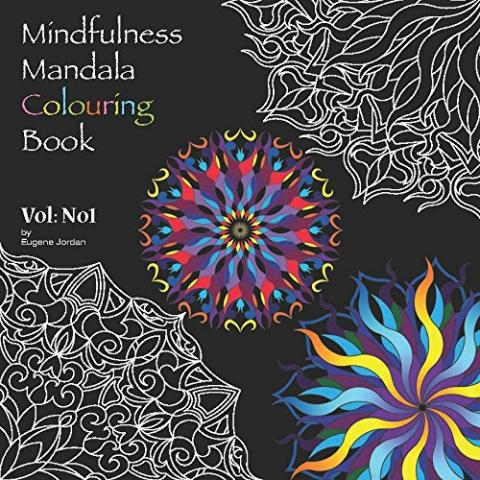 Mindfulness Mandala Colouring Book - front cover